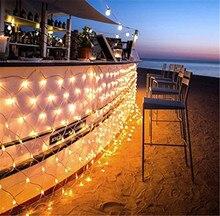 2m3m 204 led net mesh fairy string light whitewarm whitebluergb christmas wedding party with 8 function controller us plug - Multi Function Led Christmas Lights