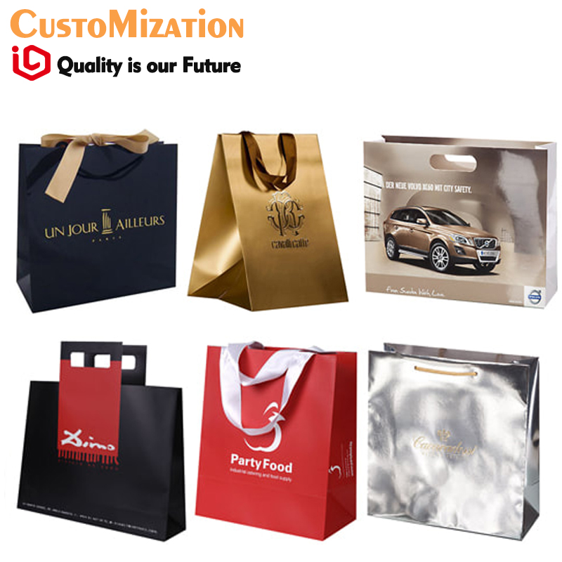 US $0 12 |China wholesale paper cement packaging hot stamping jewelry bags  export to Dubai Kraft Shopping Bags With Cotton Rope Handle -in Jewelry
