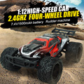 Subotech BG1508 RC Car 1 : 12 coche de competición alta velocidad montado Control de Radio de coche de carreras 4WD 2.4 G juguete del coche del RC RTR