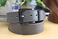 Newly Striped Leather Belts Mens Belt Buckle