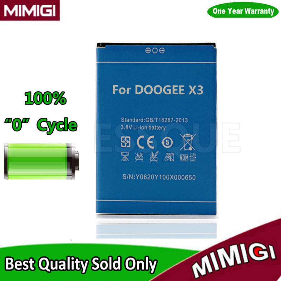 Original 1800mAh Mobile Phone Accumulator For DOOGEE X3 Battery Batterie Batterija Batterije ACCU AKKU AKU