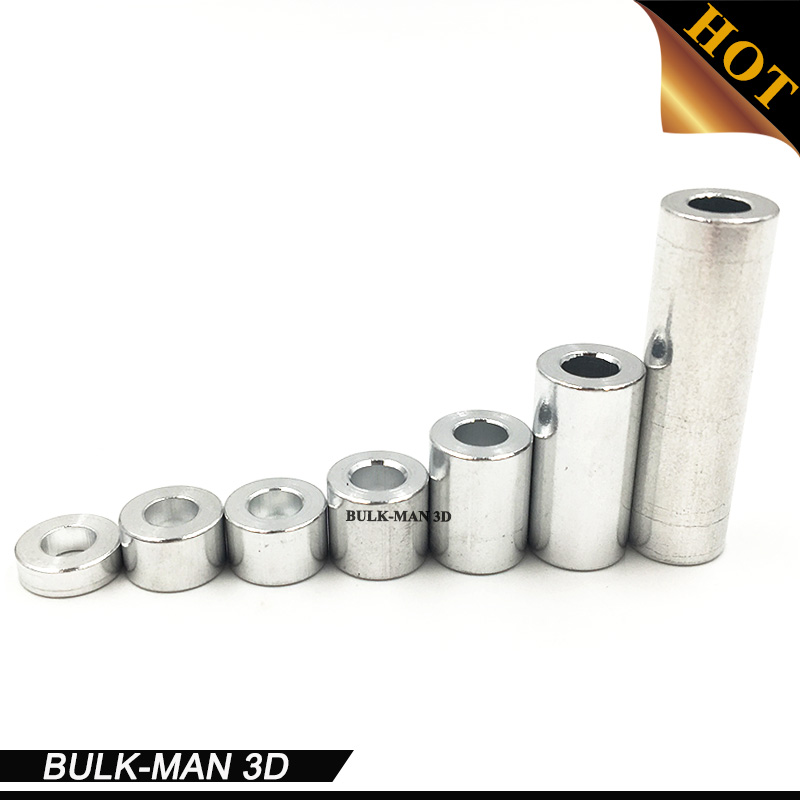 100pcs/Lot M5 Aluminum Spacer 13.2mm/20mm/35mm/1-1/2''mm/40mm high precision round Aluminum Spacer for openbuilds плавкий предохранитель roc 50 m5 spacer