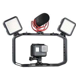 Image 2 - Universal DSLR Gopro Smartphone Handheld Video Rig Vertical Shooting Rig for iPhone XS 11 Pro Max X 8 Gopro 5 6 7 8  DSLR Camera