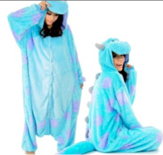 Adult Animal Onesie Monster's Sully Cosplay Costume Pajamas Stock Sale - UFO store