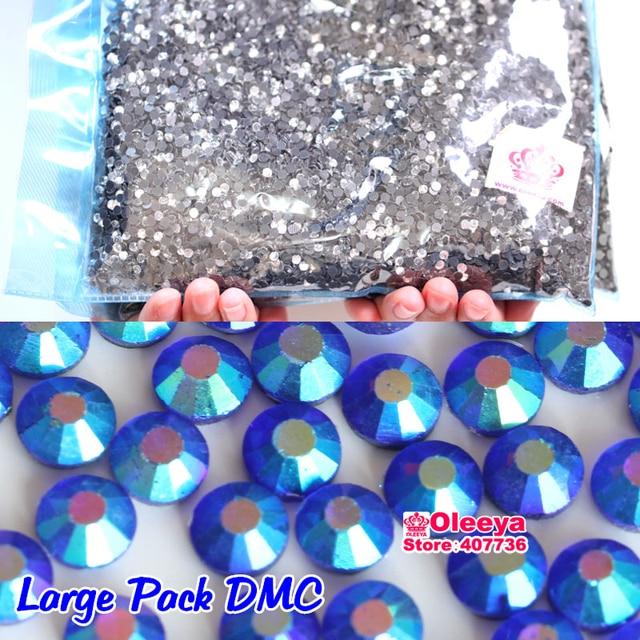 Sapphire AB Rhinestone Hotfix Flatback Glass Strass Iron On DMC Hot Fix  Rhinestones For Wedding Dress Y0411 2a6864708a5a