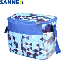 SANNE Colorful Triangle insulated thermal lunch bag Outdoor picnic PEVA&Polyester waterproof portable