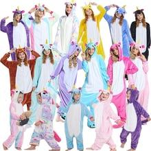 Купить с кэшбэком Animal Cosplay Costume Cute Unicorn Pajamas Children and Adults Blanket Sleepers Children and Adult Costumes Cartoon Animal