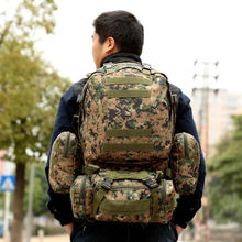 Купить с кэшбэком Outdoor Sport Women Bag Mountaineering Tactical Backpacks Hiking Camping Men Travel bags Camouflage Backpack Rucksack Bags