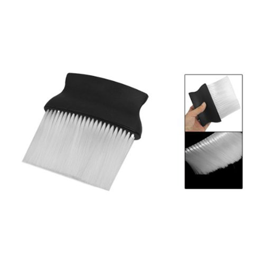 Hot! Black White Plastic Pro Hairdressing Salon Neck Duster Cleaning Brush for Barber