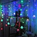 Forma de nieve LED Cortina de la Secuencia 3 M 96 Led 16 Líneas de La Gota carámbano cortina de Hadas de luz Para La Boda de Navidad navidad Decoración de La ventana