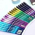 20Pcs/Pack Wholesale New Creative Space Walk Black 0.38mm Gel-Ink Pen Office School Supplies Stationery H0402