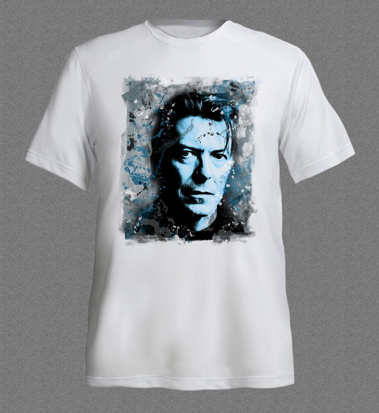 Hipster Tees Summer Mens T Shirt DAVID BOWIE Pop Music cool white T-shirt New Fashion Men'S Short Sleeve