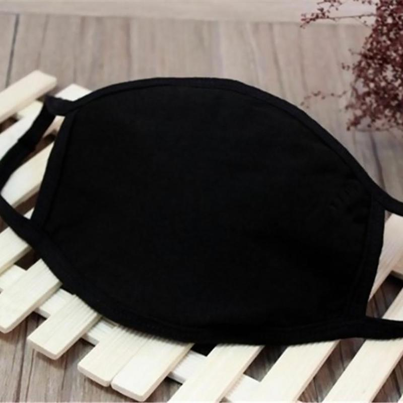 Korean Autumn And Winter Cotton Black Masks Wholesale Korean Fashion Protection Double Dust Mouth Mask