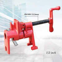 1/2 3/4 inch Heavy Duty Pipe Clamp Woodworking Wood Gluing Pipe Clamp Pipe Clamp Fixture Carpenter Woodworking Tools