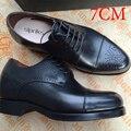 2016 Tiendas De Lujo Personalizado 7 Cm Zapatos Del Elevador de Los Hombres Para Hombre Goodyear Welted Zapatos Oxfords Zapatos Italianos Zapatos de Vestir Para Hombre de Boss europea