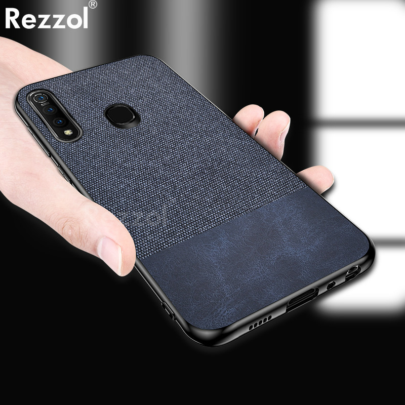 For VIVO Z5X Case Cloth Fabric Silicone TPU Bumper Hard PC Back Cover For VIVO Z1 Pro Case Rezzol Business Funda