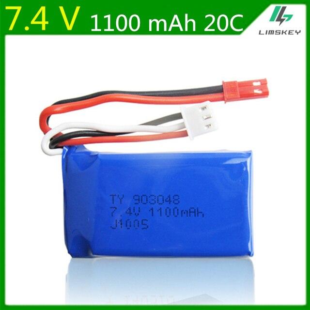 7.4V 1100mAh Lipo Battery For WLtoys V353 A949 A959 A969 A979 k929
