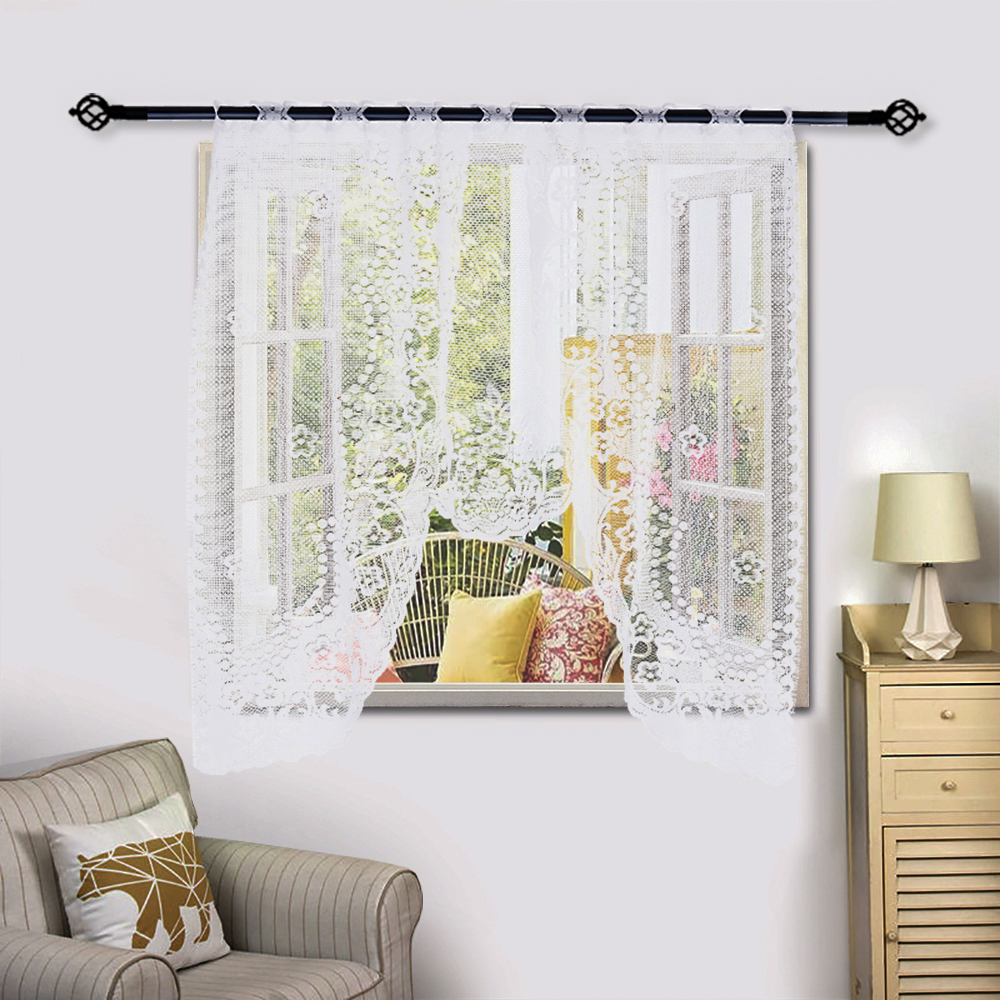 US $2.2 34% OFF|2019 New Arrival Vintage Style Lace Coffee Curtain Kitchen  Curtain Vintage Style Window Scarf ation Home Decoration Hot Sell-in ...