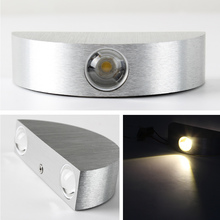 Emergency Wall Lamp Easy Installation AC100-265V Warm White Alumium Xtra Brightness 3W LED Led for Outdoor Bedroom