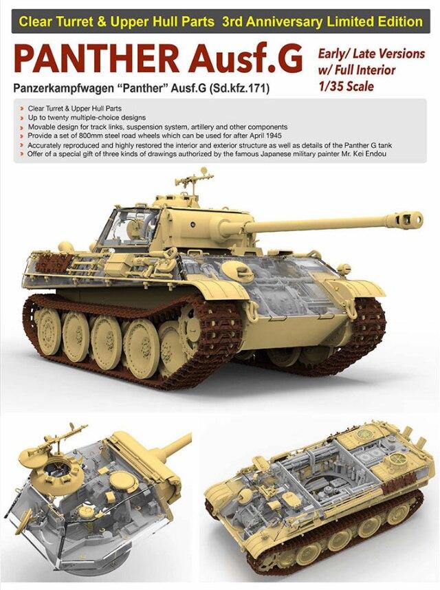 Żyta pole 5016 1/35 skala PANTHER Ausf. G wczesne/późne wersje w/pełna wewnętrzna jasne wieży i górny kadłub części ogranicza się edycja w Zestawy modelarskie od Zabawki i hobby na  Grupa 1