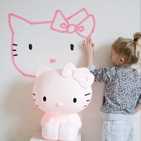 Children's Height 80CM Rabbit LED Night Light Usb Charge Dimmable Waterproof Table Lamp Animal Cartoon Bedroom Home Decoration