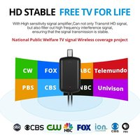 80 Miles Antenna Digital HDTV Indoor TV Antenna 4K HD VHF UHF Freeview for Life Local Channels Broadcast for All Types 2