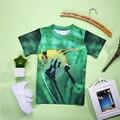 2017 Novo Verão 3D Camisetas Meninos T-shirt Do Bebê Crianças Animais t-shirts para a Menina Dos Miúdos Macio 3D Impresso Camisas de T para meninos