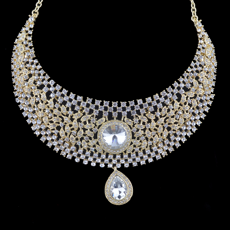 necklace clear crystal set leading urban teardrop rhinestone product