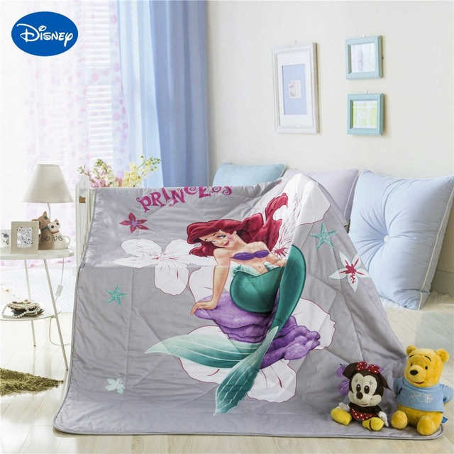 Personaggio disney ariel mermaid principessa biancheria da letto trapunta di stampa per le - Biancheria letto disney ...