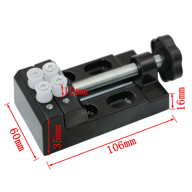 1pcs Aluminum Mini Bench Vice Parallel-jaw vise For Jewelry Nuclear Clip On DIY Carving  Tool Fixed Tools pro skit pd 372 aluminum alloy mini vise blue
