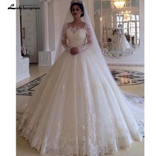 lakshmigown Long Sleeves Wedding Dress Bridal Gowns