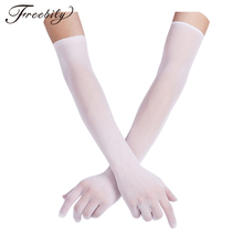 Sexy Women Smooth pantyhose tights stockings Sheer Seamles Long Gloves