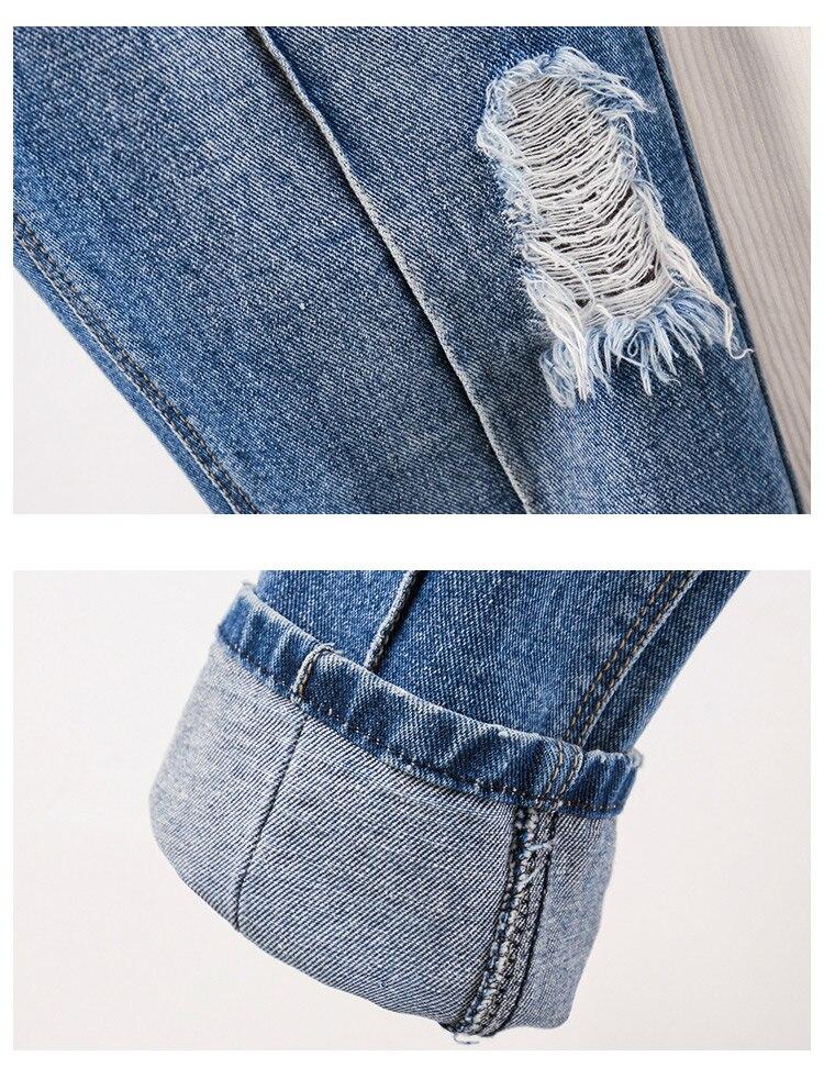 Lavé Size Harem Déchirés Femmes Trous Mode Plus Bleu Tie Jeans Pour 2019 Pantalon Vintage Dye Femme SUdnqTxPwn