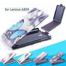 Чехол для Lenovo 859 Мобильный телефон сумка голубая бабочка Вертикальная Кожа PU телефон чехлы для Lenovo A859 shell -Лидер продаж
