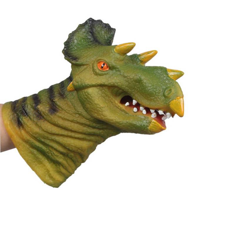 29 cm Vida Real Animal Fantoche de Mão Fantoche de Mão de Dinossauro Brinquedos Figura Cabeça Tiranossauro Luvas de Brinquedo Gags & câmera escondida para As Crianças