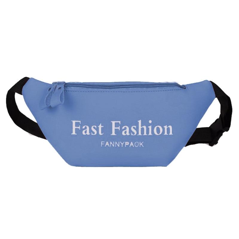 Fashion Letter Print Belt Bag Pack For Women Waist Bag Money Belt Pu Leather Zipper Phone Chest Bags Female Waist Pouch Purses
