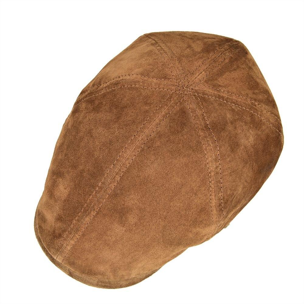 cdca9dc730249 VOBOOM planos de cuero de gamuza de los hombres mono gorras de piel de cerdo  6 Panel Gatsby Baker Ivy sombrero Otoño Invierno Boina 159 en Vendedor de  tapas ...