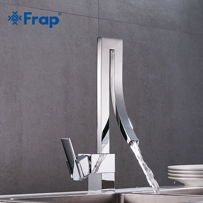 Frap Contemporary 1 set Kitchen Faucet New Style Mixer Cold and Hot Kitchen Tap Single Hole