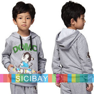 Free Shipping Baby Clothes Kids Autumn Wear Boys Cartoon Tracksuits Children Sports Sets Hoodies K0650