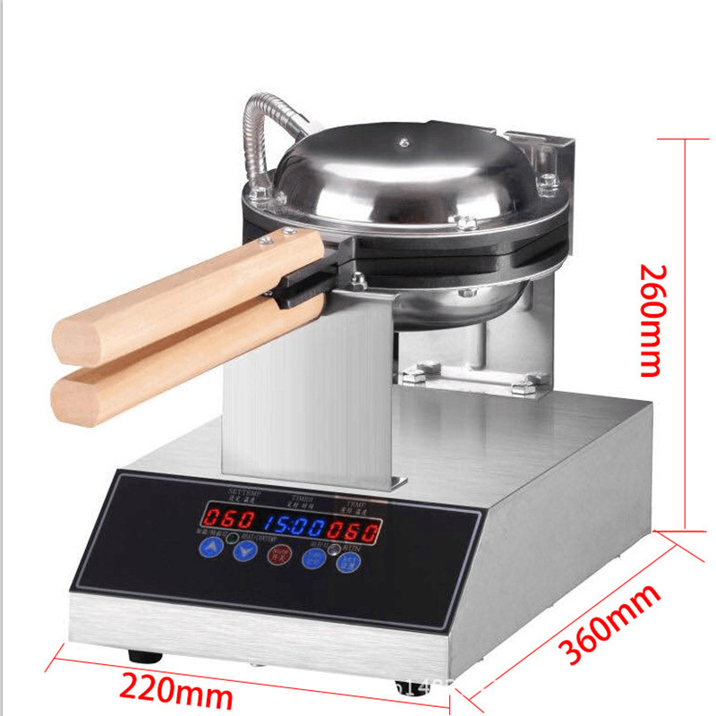 Hong Kong QQ Eggettes Waffle Maker Bubble Egg Cake Oven 180 Degrees Rotated Stainless Steel Egg Puff Cake Waffle Make Machine dmwd mini portable hong kong electric eggs bubble waffle maker qq egg aberdeen omelet machine eggettes puff cake pan eu us plug
