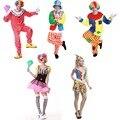 Мужчины Женщины Цирк Клоун Взрослый Костюм Косплей Комбинезоны Карнавал Хэллоуин Костюмы Партии Новогодние костюмы