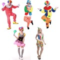Men Women Circus Clown Adult Costume Cosplay Jumpsuits Carnival Halloween Costumes Party Christmas Clothes
