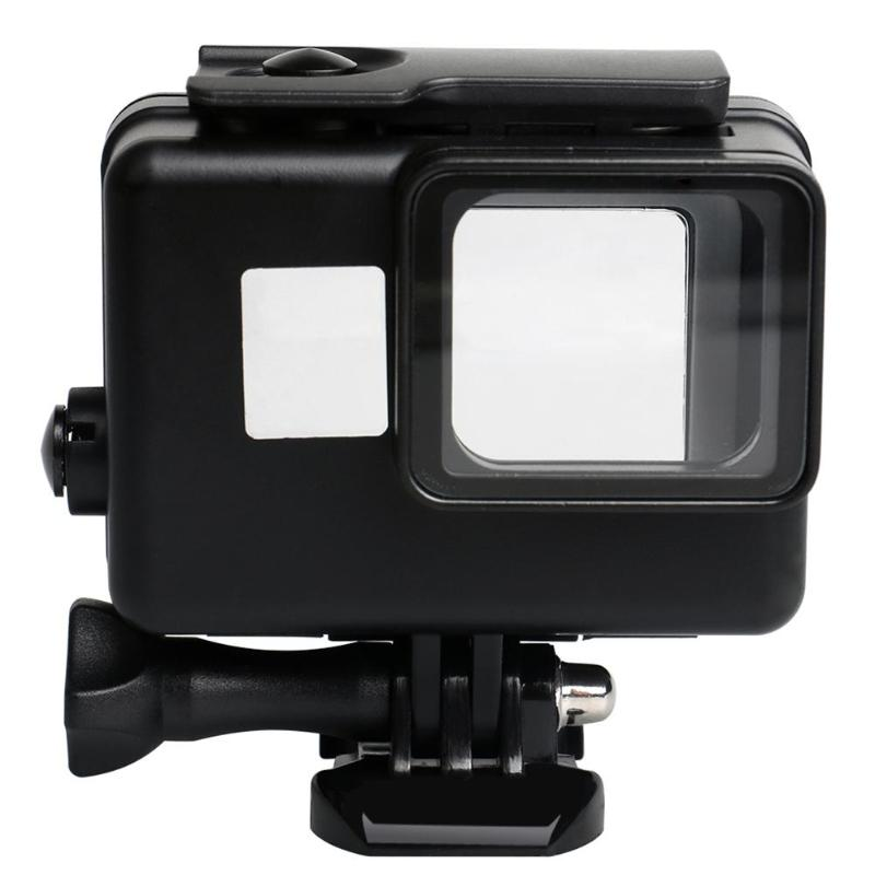 45 м водонепроницаемый глубинный водонепроницаемый корпус для дайвинга защитный чехол для камеры Gopro Hero 5 6 7 - Цвет: Черный цвет