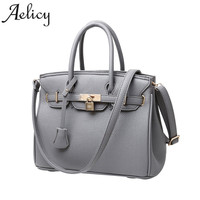 Aelicy Luxury New Zipper Package Europe And The United States Litchi Platinum Plaid Diagonal Shoulder Handbag