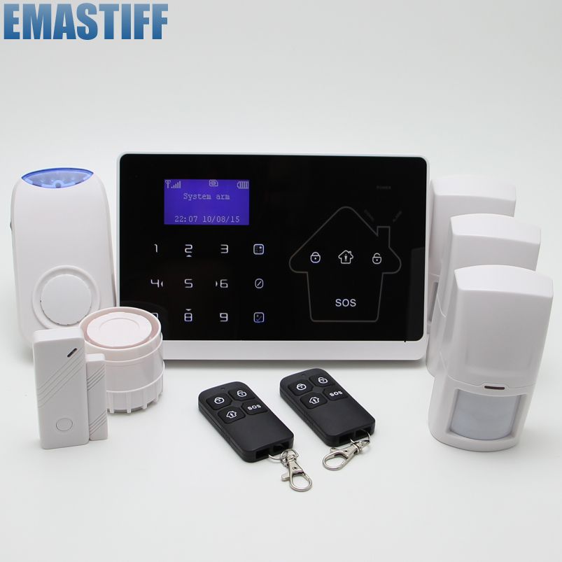 New 10 wireless zones APP Autodial GSM PSTN Touch LCD Burglar Voice House Protection Autodial Secure Fire/Smoke Alarm Detector kerui wireless wired gsm voice burglar home house security alarm app control tft touch panel wireless smoke detector pir sensor