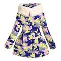 Девочки Камуфляж Пальто и Куртки Вниз парки Дети Снег Верхняя Одежда 130-170 см Открытый Пальто