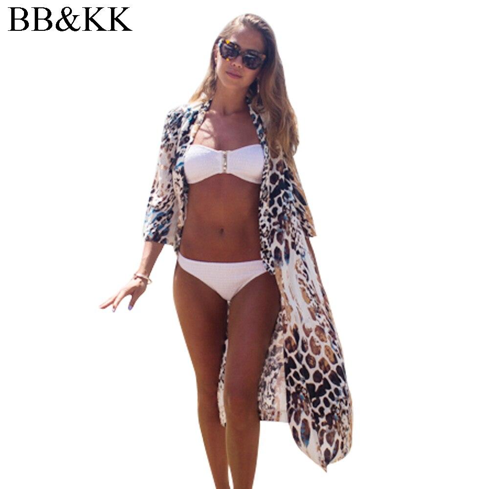 2017 nyáron nők kimonó strand bikini borító fürdőruha sifon színes sima szexi fürdőruha köpeny kötögetni kimonó ingek Tops