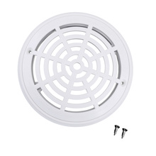 цена на White ABS Plastic Main Drain Suction Cover Plate With Screws For In-Ground Swimming Pools replacement 20x 14.5cm