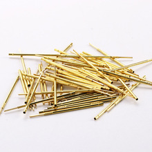 New RL75-2W Brass Probe Needle Household Safety Spring Voltage Test 100 Pcs / Package Metal Electronic Detection