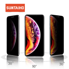 Suntaiho 3D Anti-Peeping Full Cover Tempered Glass for iPhone XS Max for iPhone XR 7plus 8plus 6s Anti Privacy Screen Protective